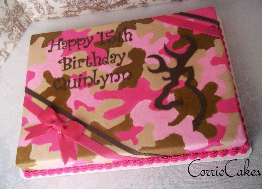 Browning Deer/pink Camo on Cake Central