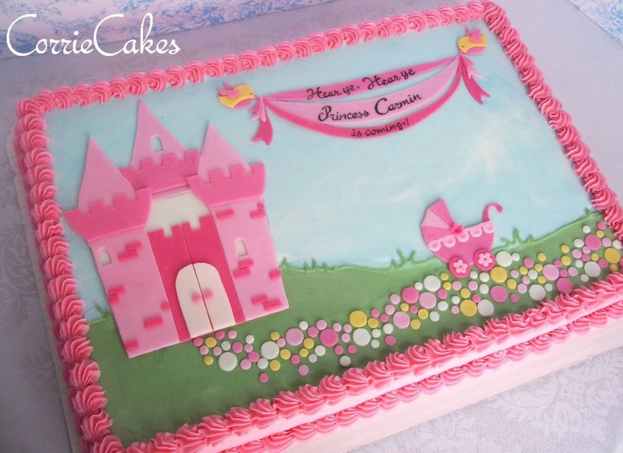 Princess Castle Baby Shower CakeCentralcom