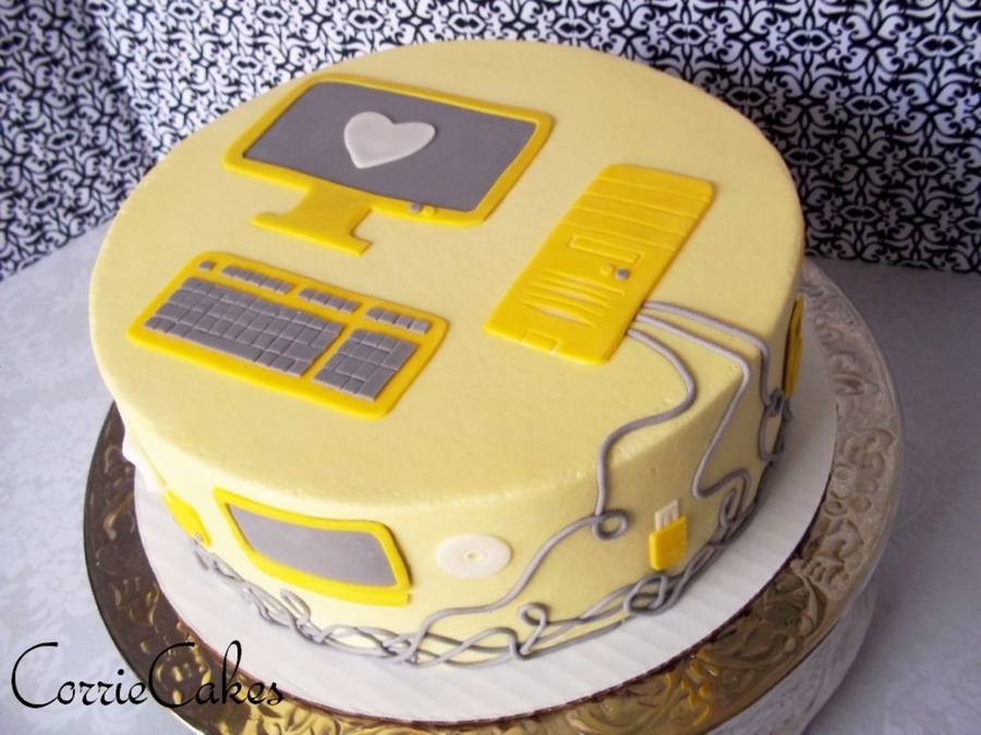 Computer Themed Groom s Cake - CakeCentral.com