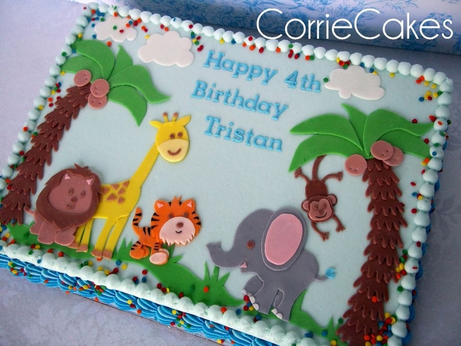 Jungle Friends! on Cake Central