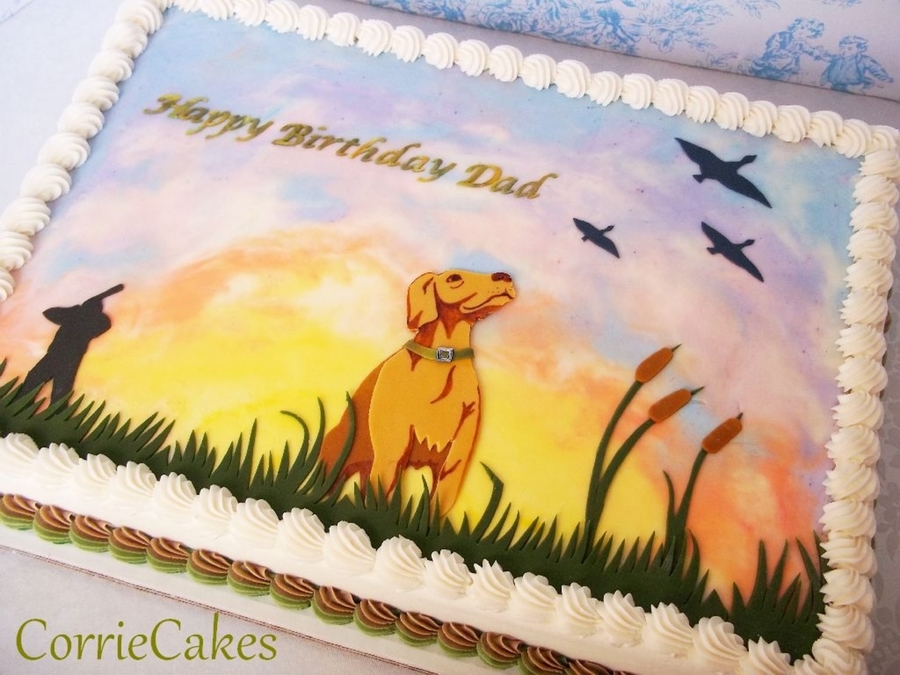 Duck Hunting With Yellow Lab on Cake Central