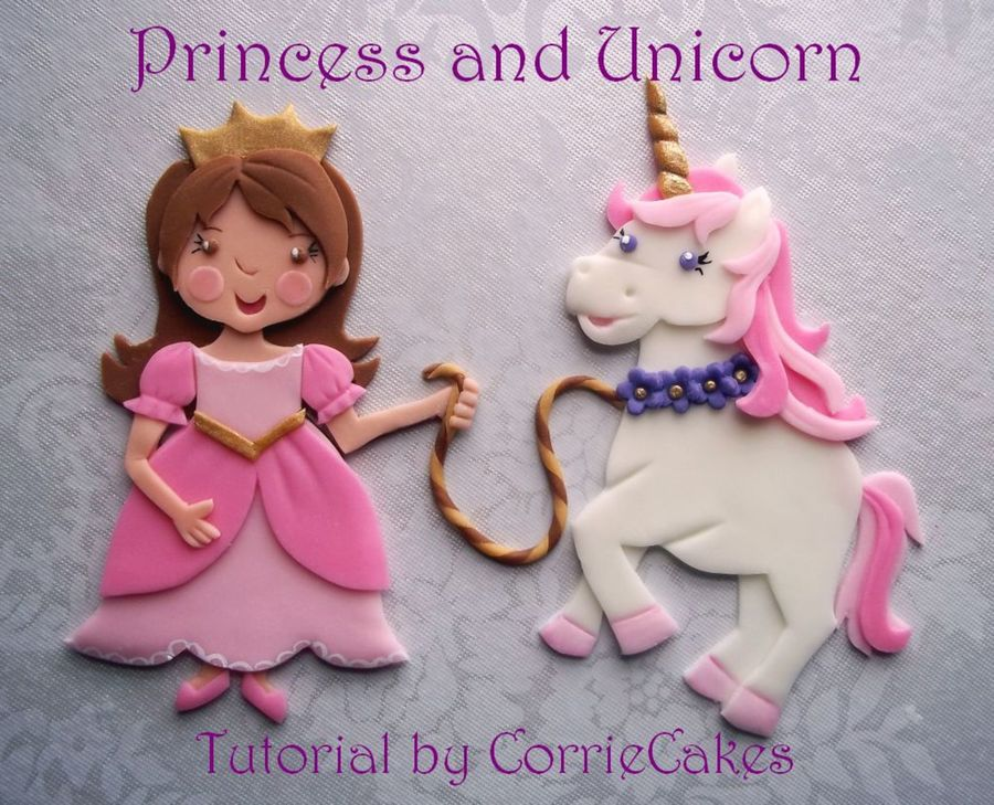 My Latest Layered Fondant Princess And Unicorn Decorations You Can Find Info On This At My Fb Page D Thanks For Looking on Cake Central