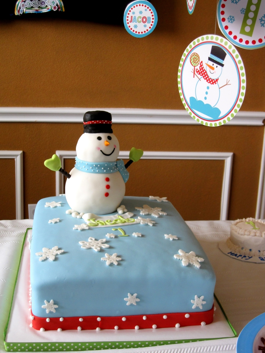 Admirable Snowman Birthday Cake Cakecentral Com Personalised Birthday Cards Petedlily Jamesorg