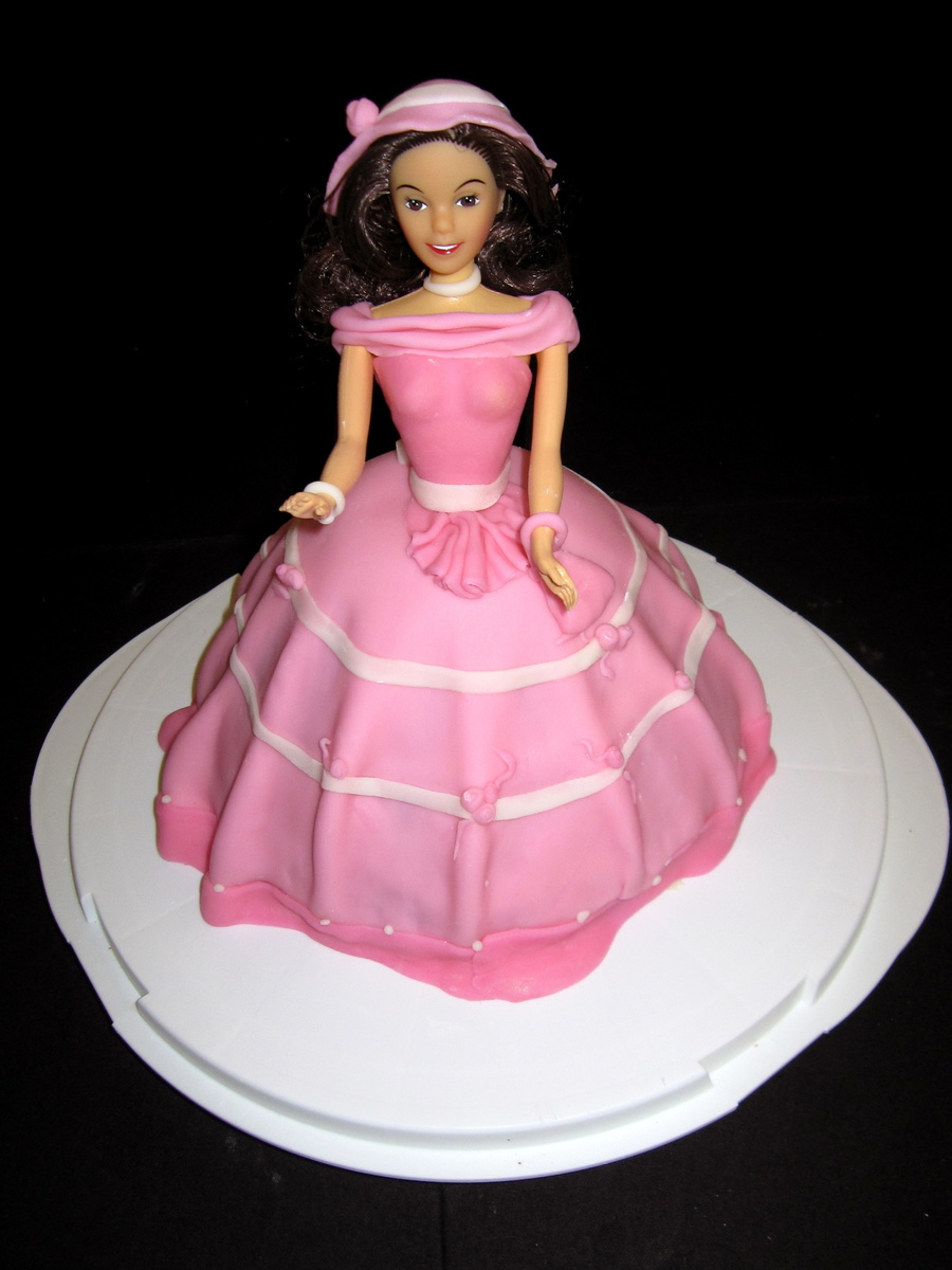Pretty In Pink Barbie Cake on Cake Central