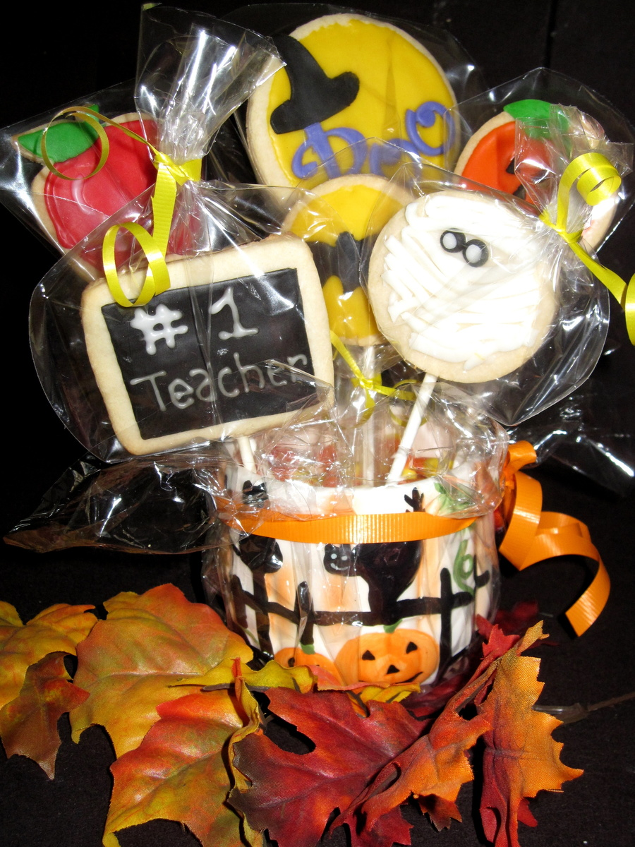 Teacher's Cookie Pops on Cake Central