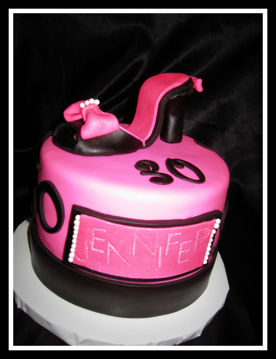 High Heel Topper For A Fashionable 30Th Birthday  on Cake Central