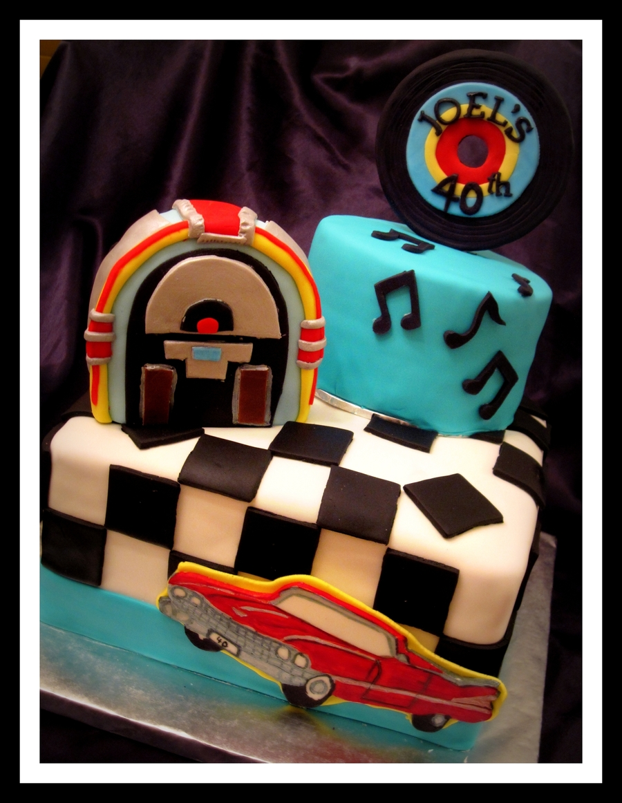50's Theme Cake on Cake Central