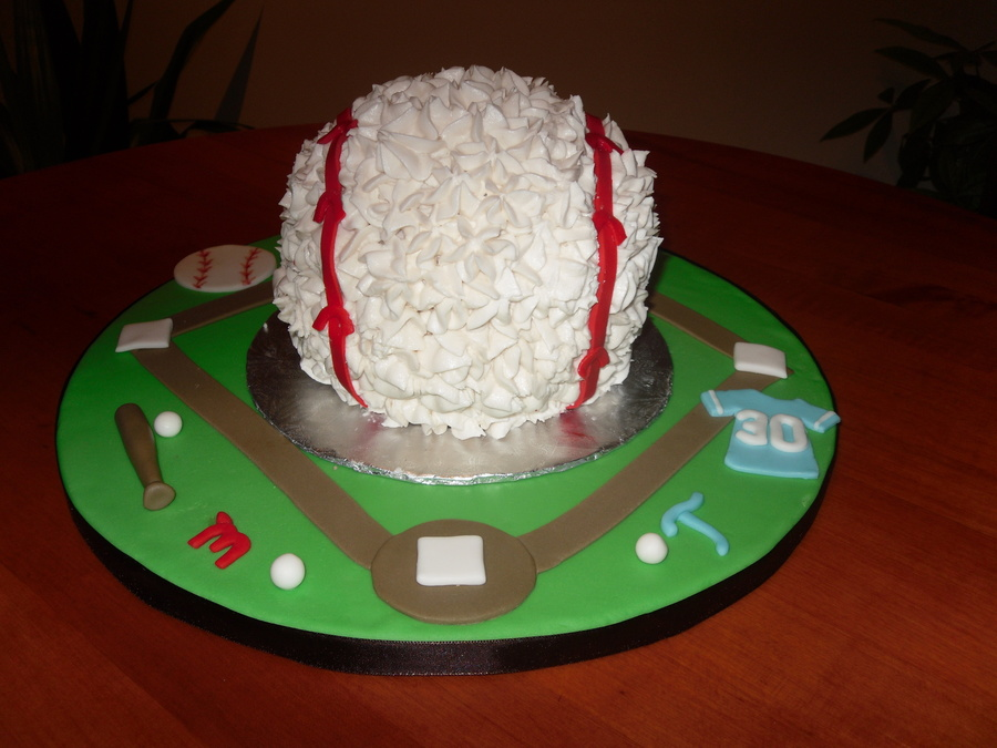 Giant Baseball Cake! on Cake Central