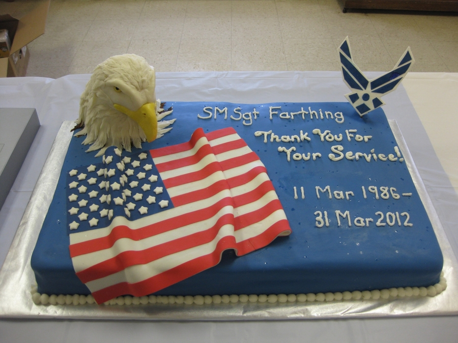 Air Force Retirement Cake Cakecentral Com