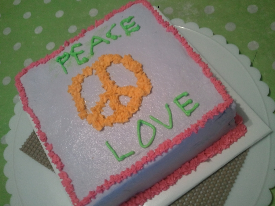 Peace & Love on Cake Central