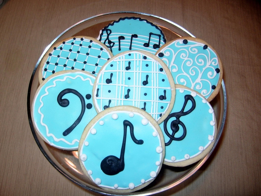 Music Cookies on Cake Central