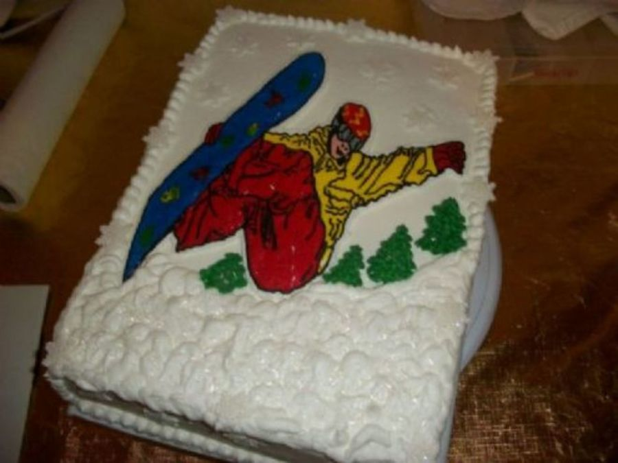 Snowboarder Cake  on Cake Central
