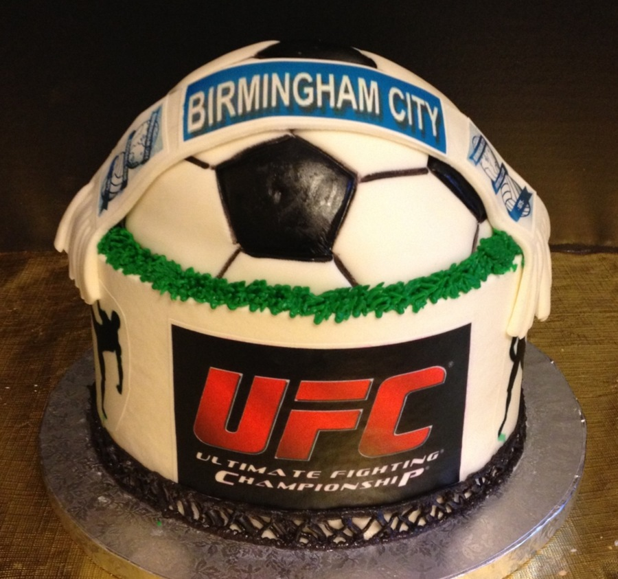 Soccer/mma Cake on Cake Central