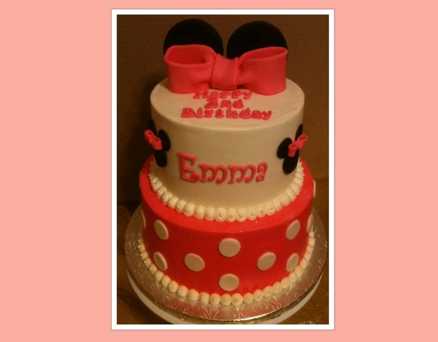 Miinie Mouse Birthday Cake on Cake Central