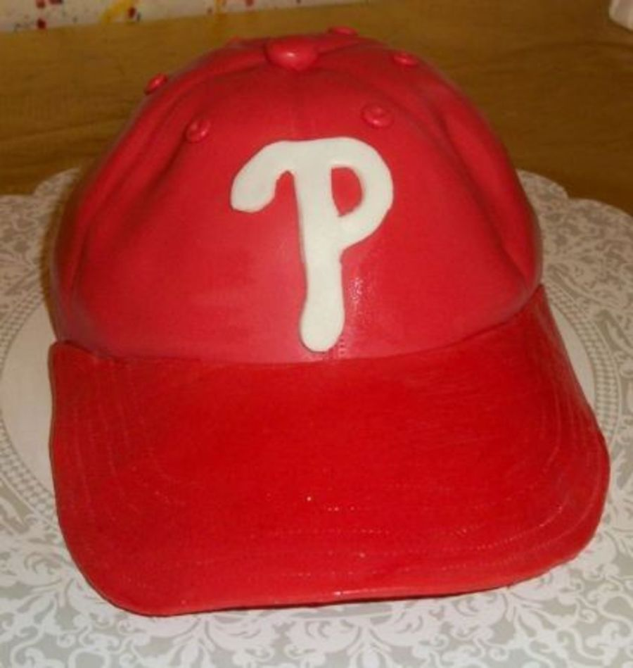 Phillies Baseball Cap  on Cake Central