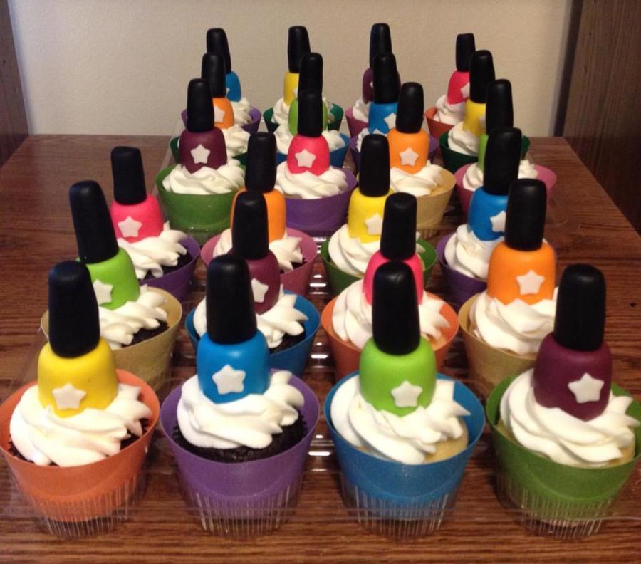 Nail Cake: Nail Polish Cupcakes