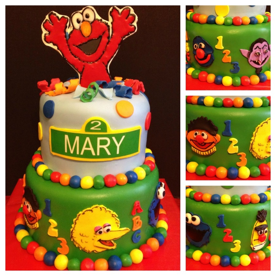 Sesame Street Cake With Elmo Topper on Cake Central