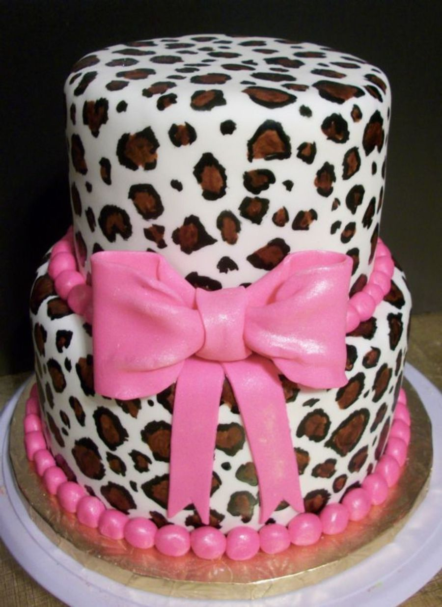 Leopard Print Cake on Cake Central