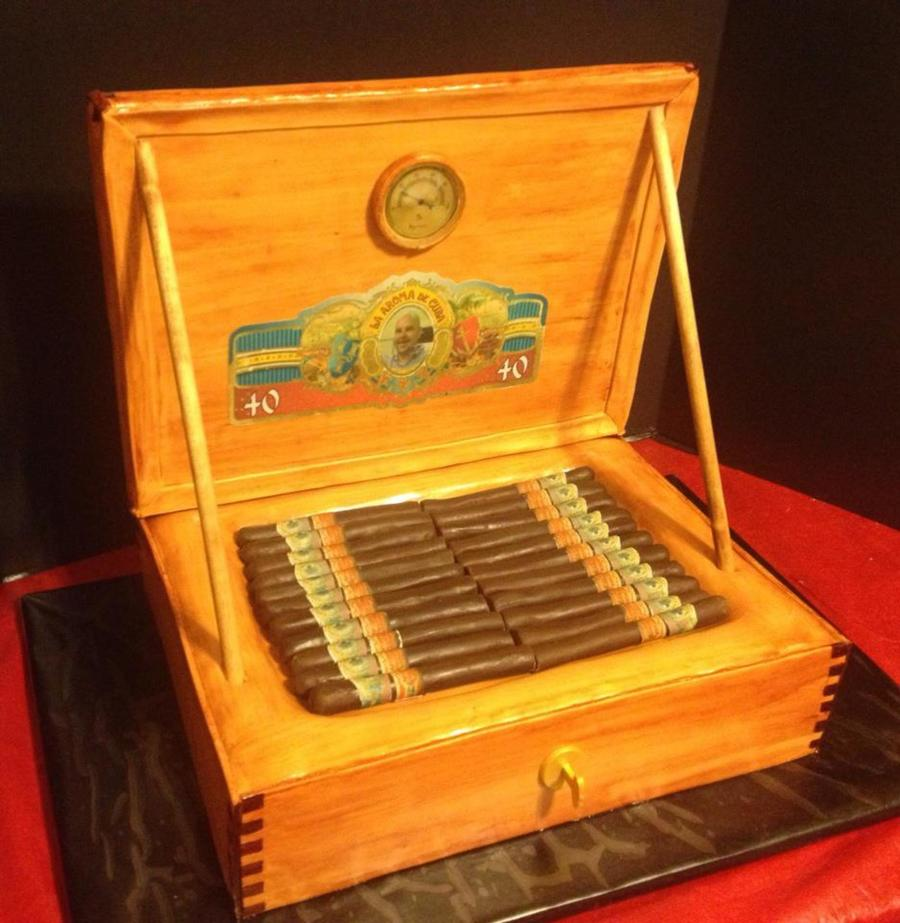 Cigar Humidor Cake  on Cake Central