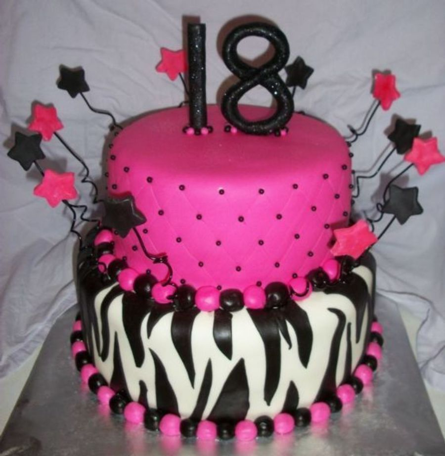 Yet Another Zebra & Pink Cake! on Cake Central