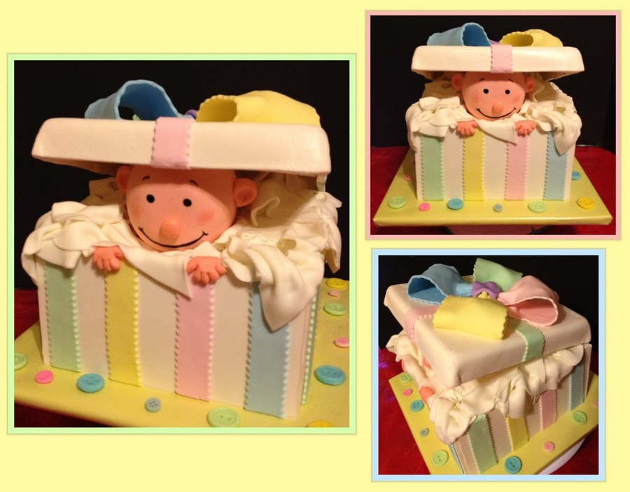 Baby In A Gift Box on Cake Central