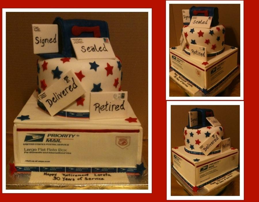 Usps Retirement Cake - CakeCentral.com