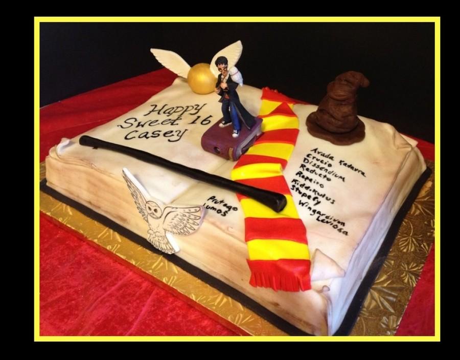 Harry Potter Spell Book Cake On Cake Central