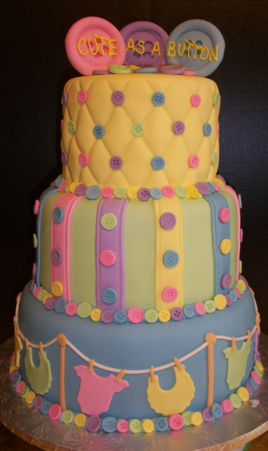 Baby Shower Themes Cute As A Button ~ Cute as a button baby shower cakecentral