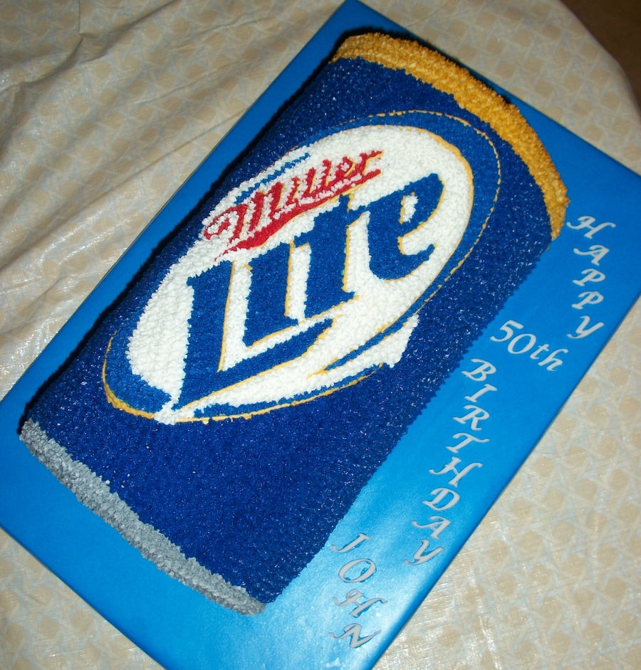 Miller Lite Can Cake on Cake Central