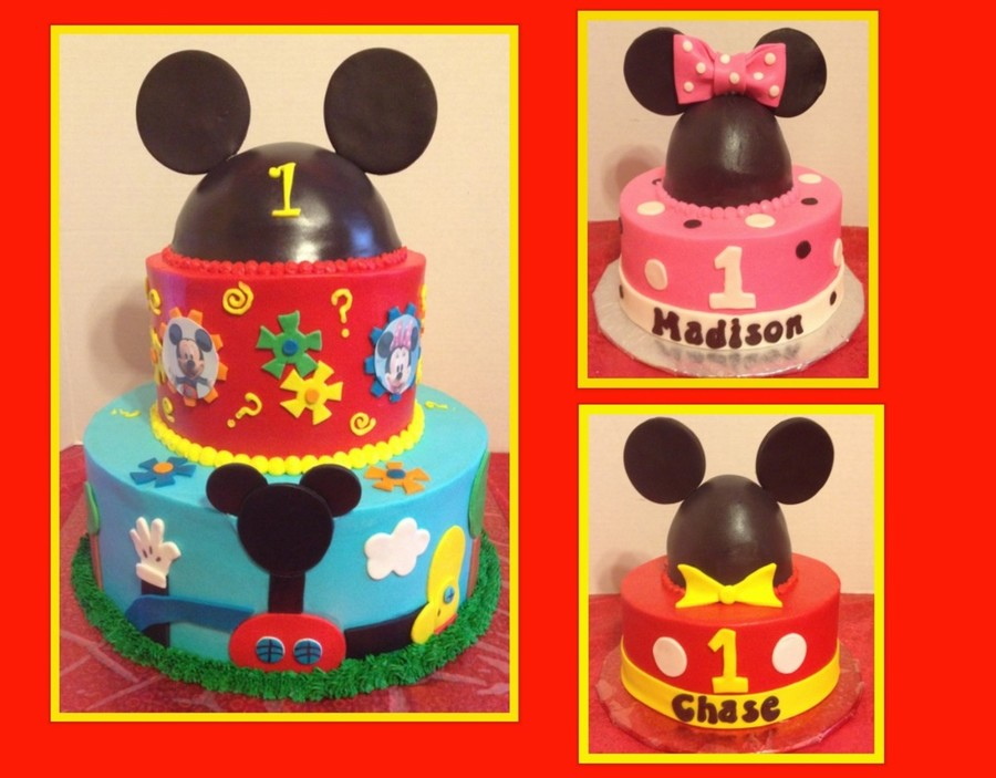 Mickey Mouse Smash Cake: Mickey Mouse Club House Cake With Smash Cakes