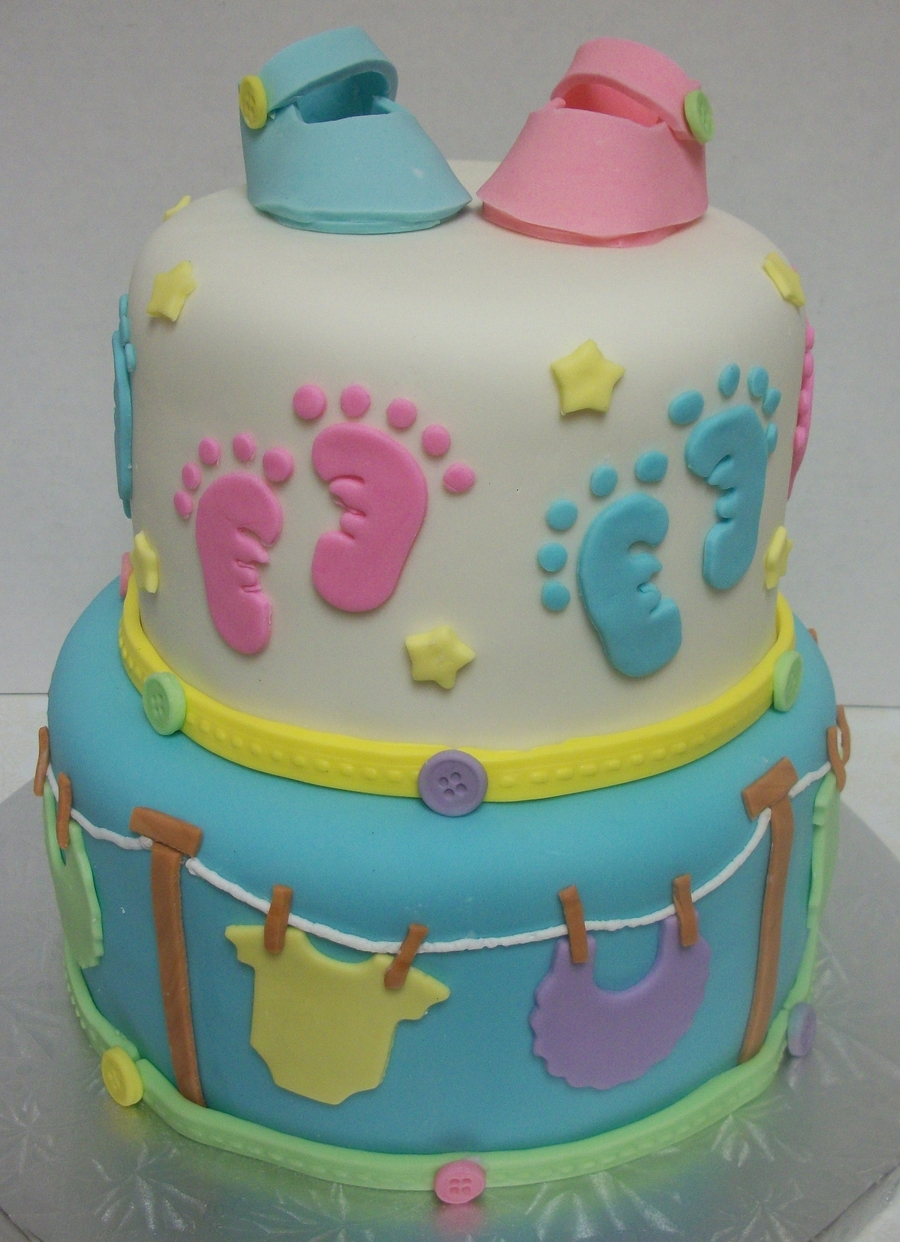 Baby Footprints on Cake Central