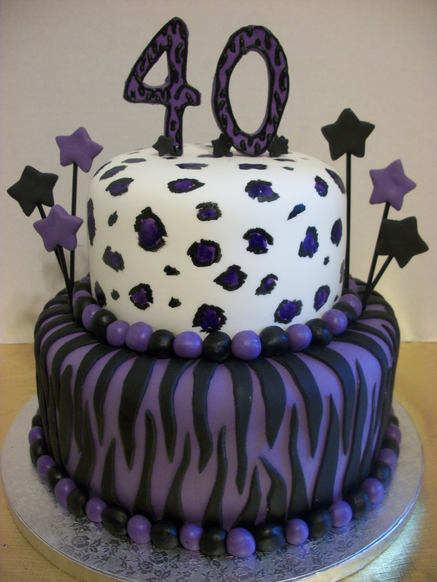 Animal Print 40Th Birthday Cake on Cake Central