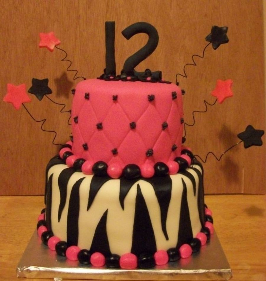 Another Pink & Zebra Cake on Cake Central