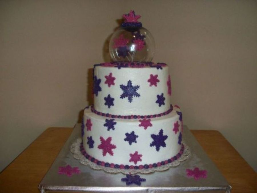 Winter Sweet 16 Cake on Cake Central