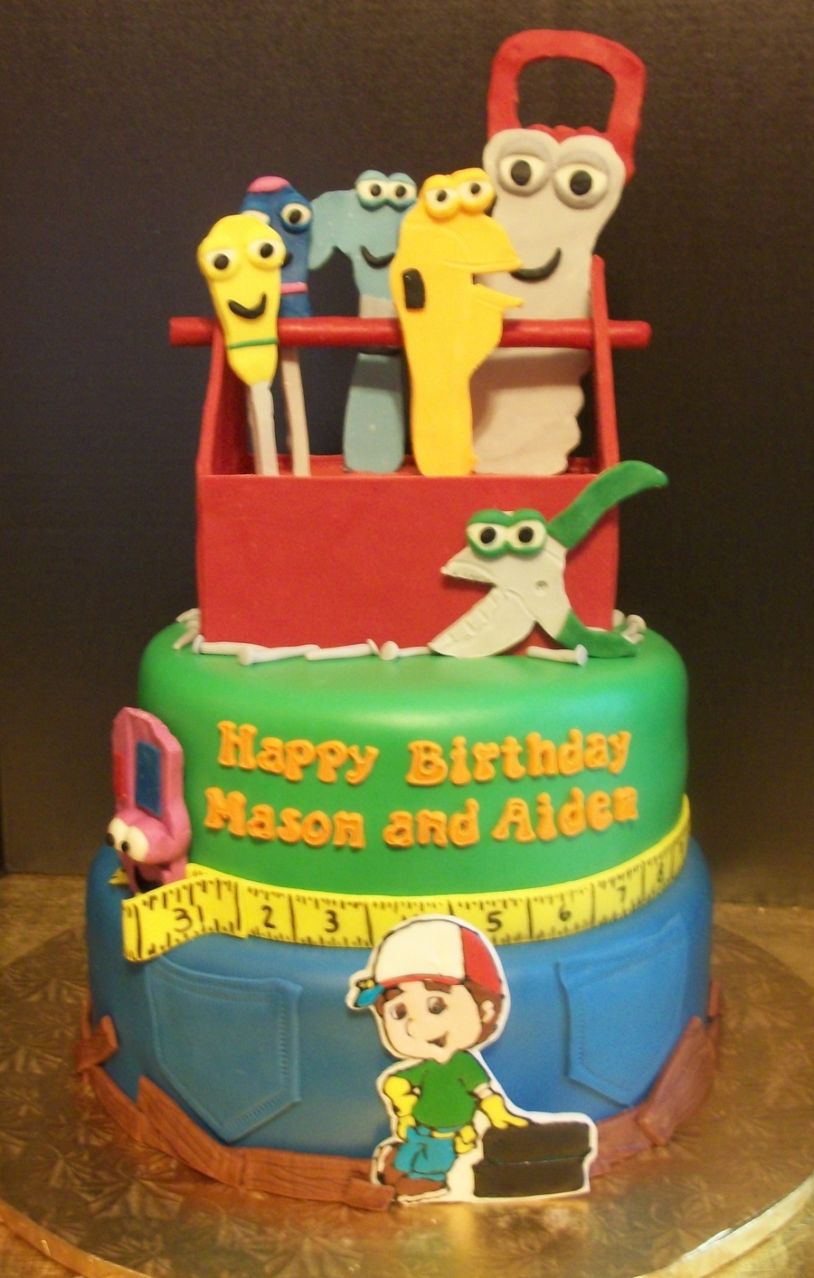 Handy Manny Cake on Cake Central