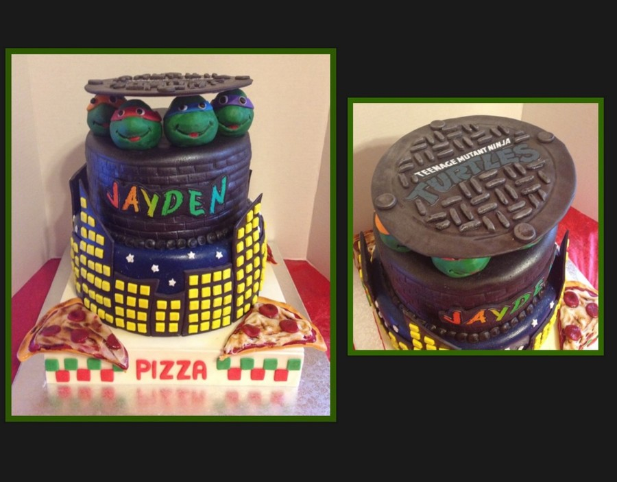Ninja Turtles Cake on Cake Central