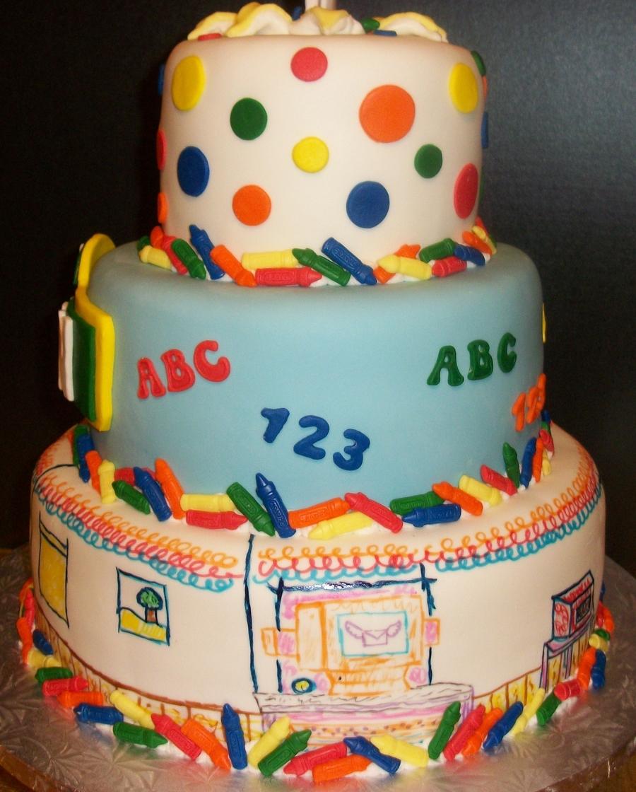 Elmo's World 1St Birthday Cake
