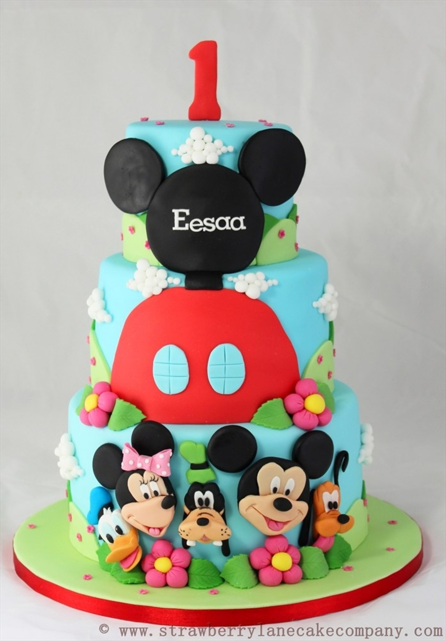 Mickey Mouse Club House And Friends 1st Birthday Cake Cakecentral