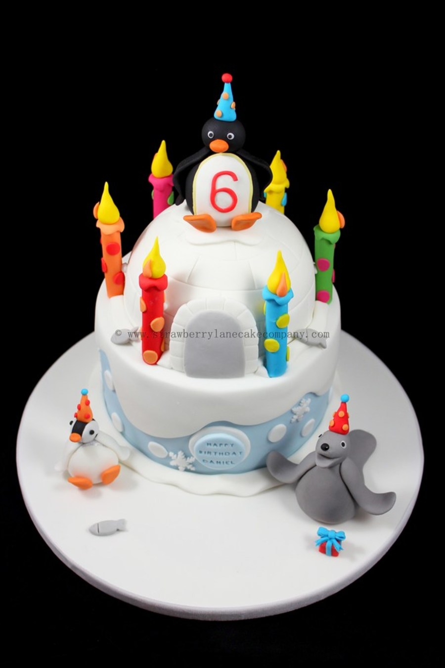 Pingu Robby And Pinga Cake Made For A Littel Boy Called Daniel The Whole Cake Is Edible And Made Of Fondant A Bit Of Flower Paste Is Ad on Cake Central
