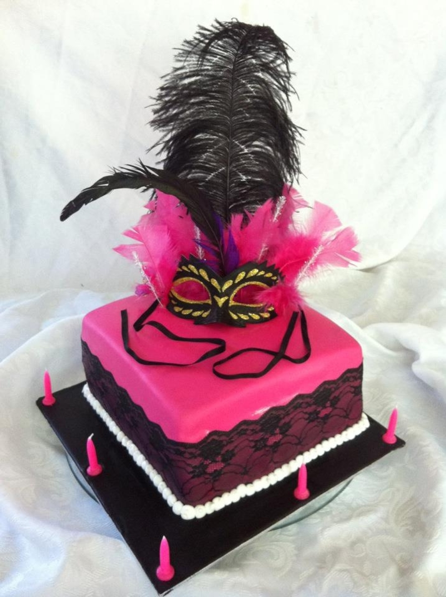 Feathered Masquerade on Cake Central