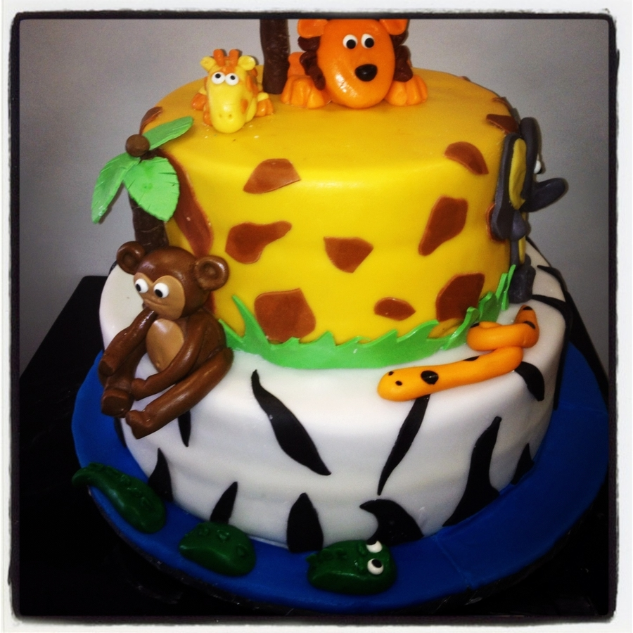 Animal Birthday Cake on Cake Central