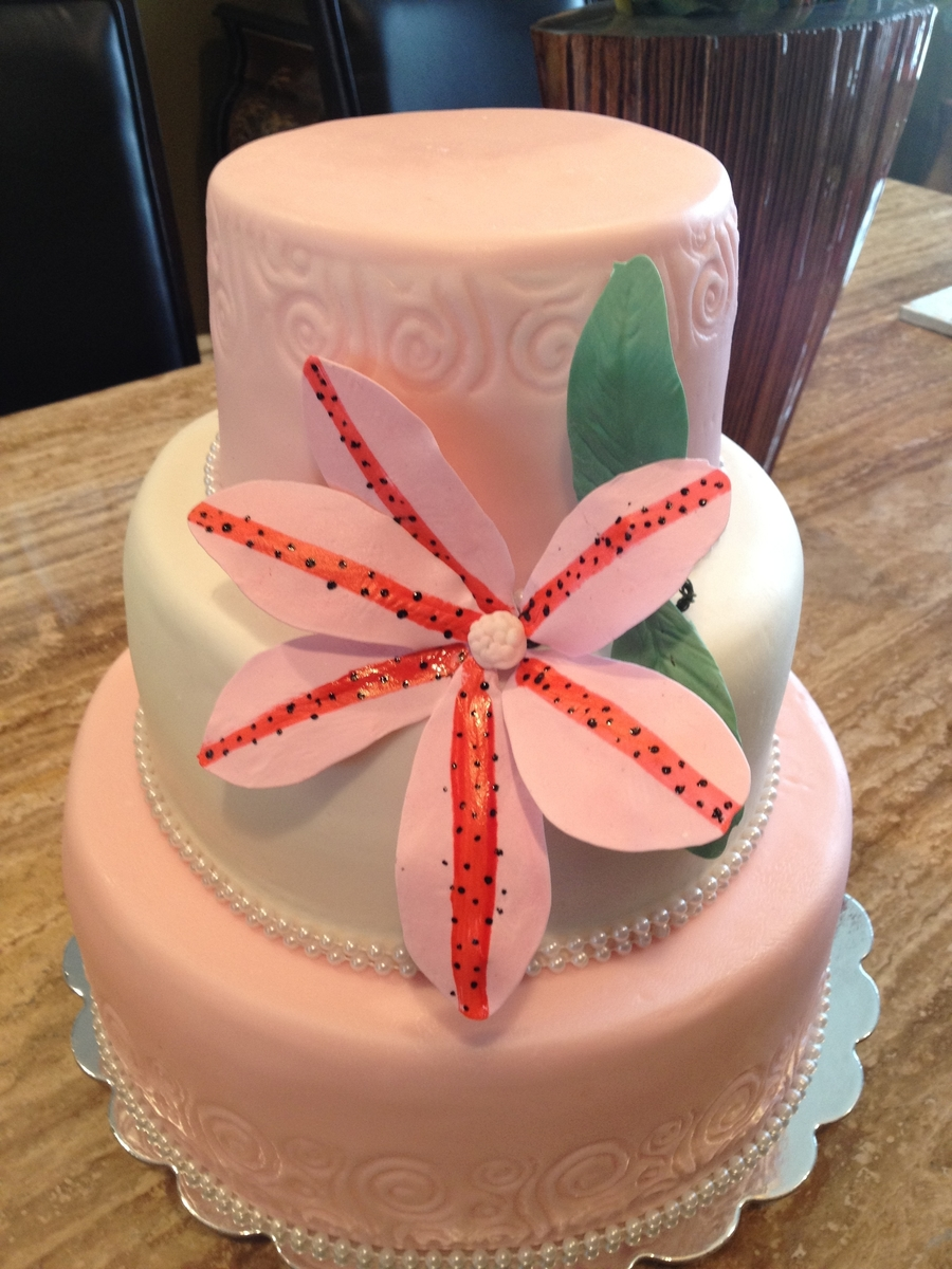 Pink & White on Cake Central