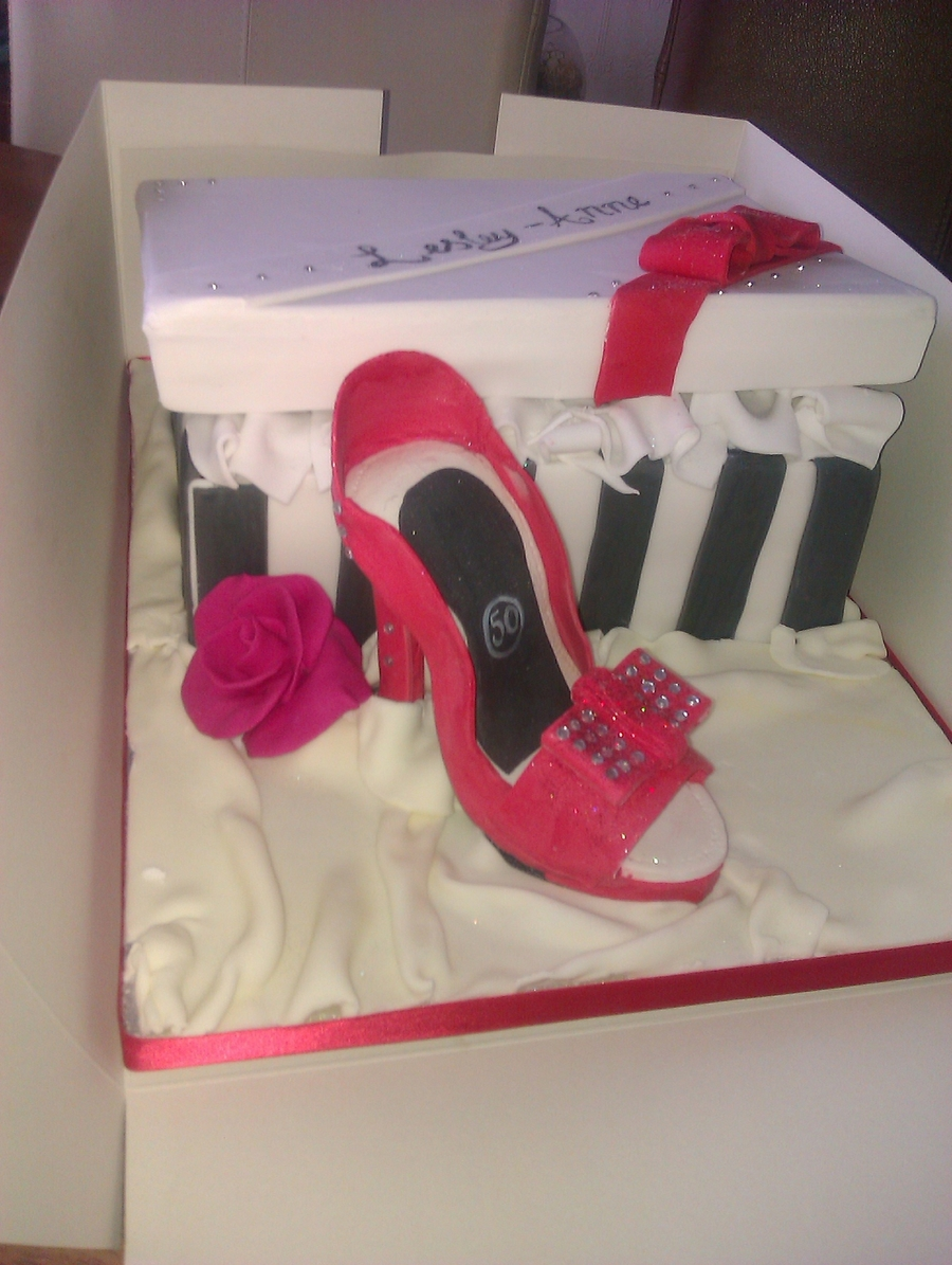 Shoe And Box on Cake Central