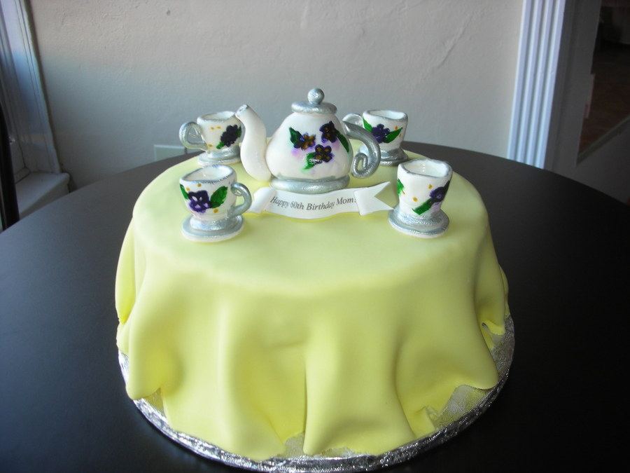 Tea Set Birthday Cake Cakecentral