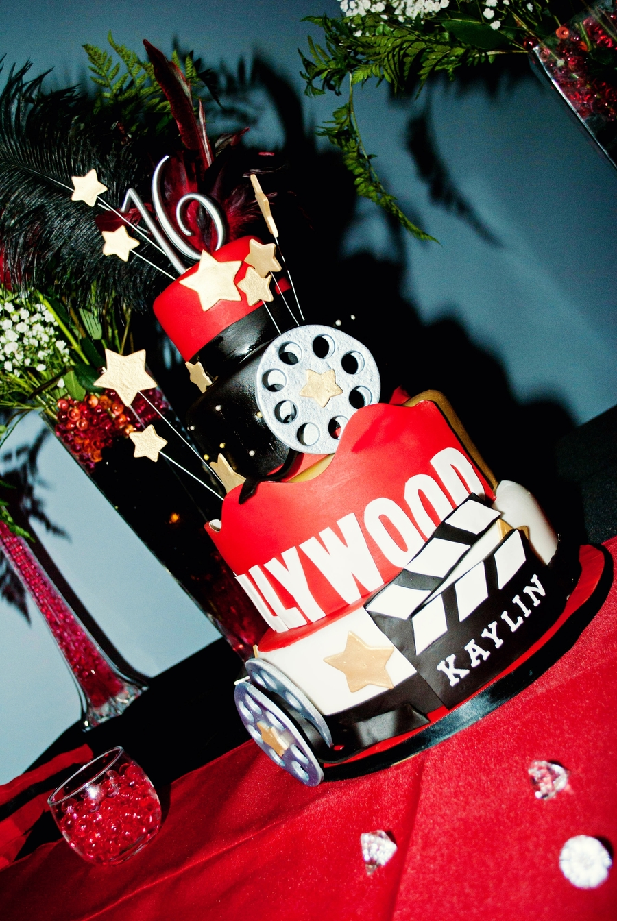 Hollywood Theme Cake Decorations