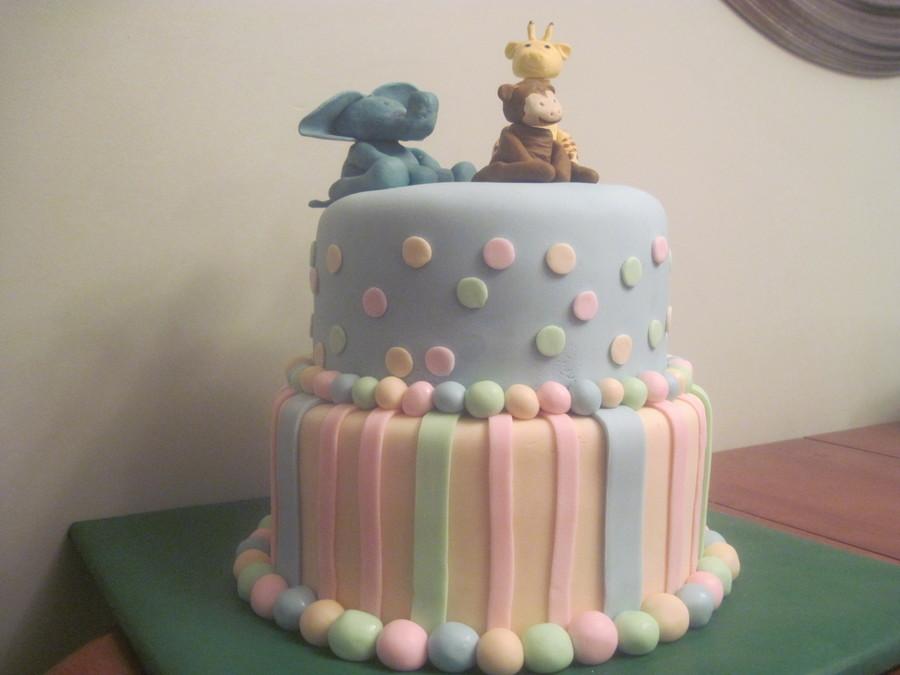 Brilliant Unisex Baby Shower Cake Cakecentral Com Personalised Birthday Cards Sponlily Jamesorg