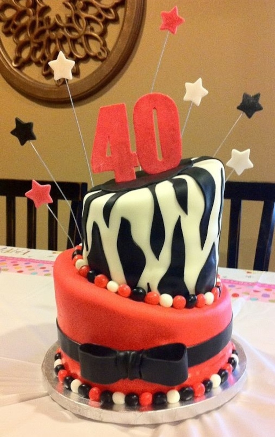 Fortieth Birthday Cake on Cake Central