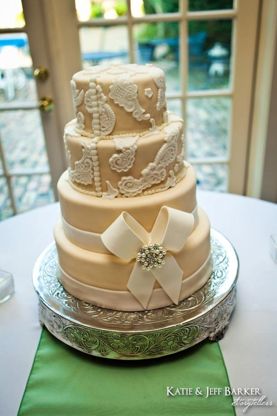 Classy Wedding Cake on Cake Central