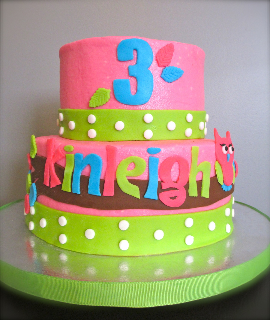 Kinleigh's 3Rd Birthday Cake on Cake Central