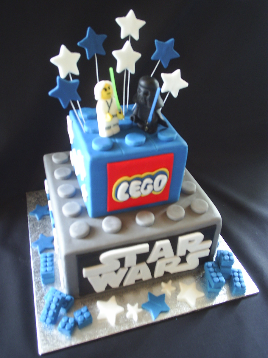 lego star wars cake the image kid has it. Black Bedroom Furniture Sets. Home Design Ideas